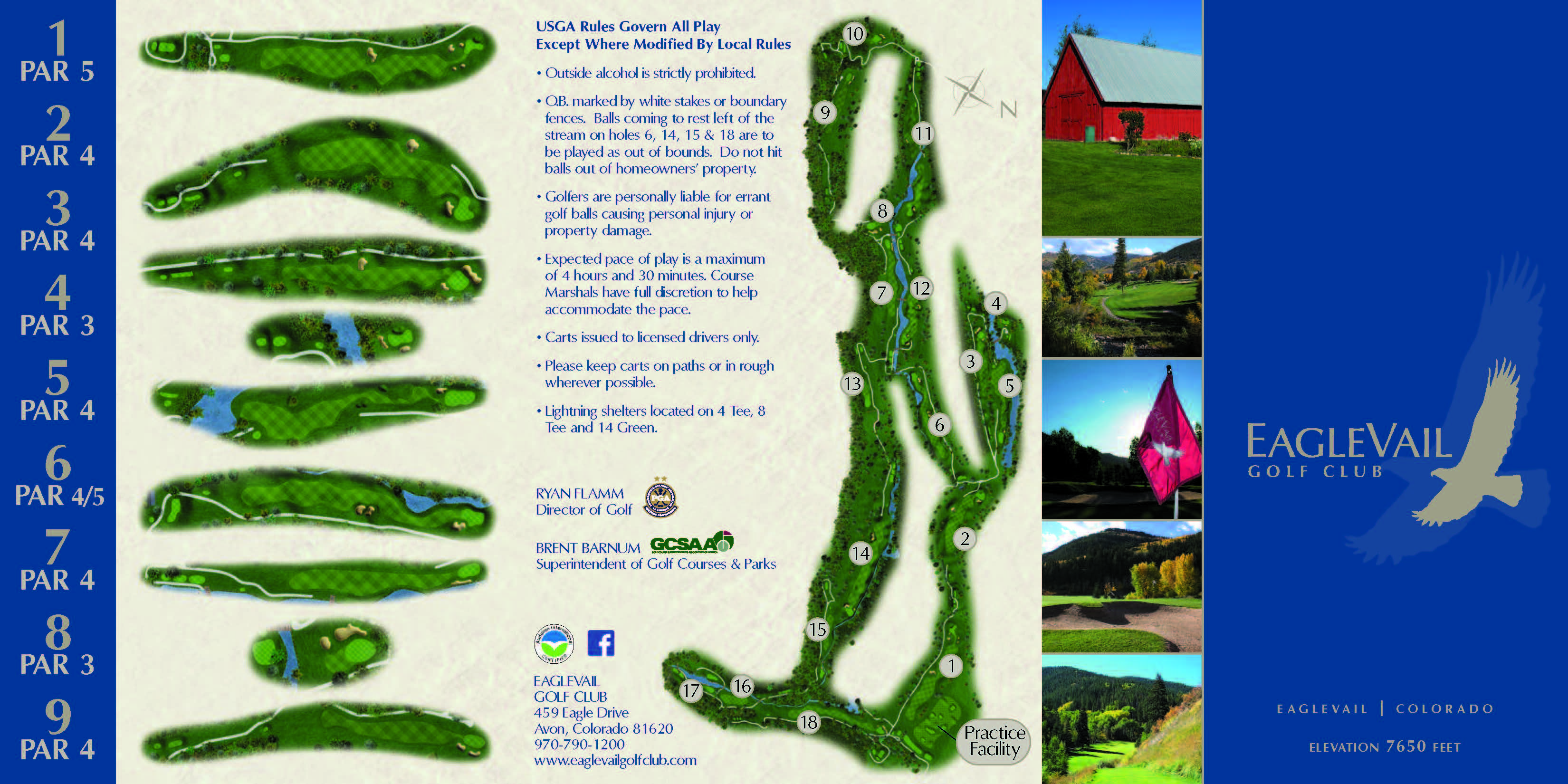 Eaglevail Golf Course Layout